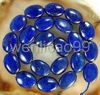 "Natural 13x18mm Egyptian Blue Lapis Lazuli Gemstone Oval loose Beads 15"""