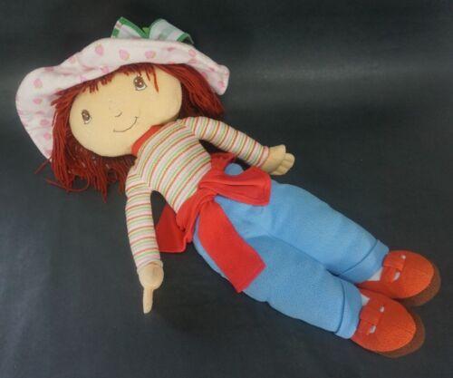 "Strawberry Shortcake 30/"" girl Doll 2004 Kelly Toy good shape stuff plush bed pal"