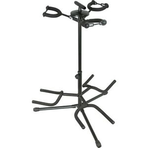 Musician-039-s-Gear-Triple-Guitar-Stand-Black