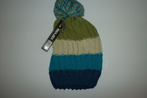 fast post 1st class Womens//ladies 4 colour Chunky Knit Slouch Bobble Ski hat