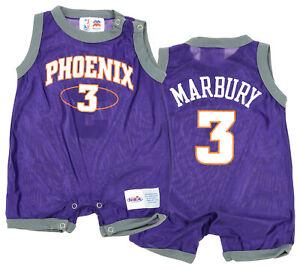 1f65c5469 NBA Baby Boys Infant Phoenix Suns Stephon Marbury #3 Retro Romper ...