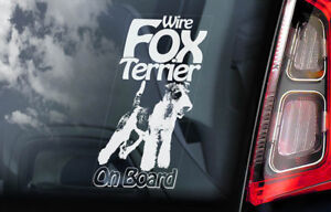 Dog Sign Decal Gift Car Window Sticker Manchester Terrier on Board V02