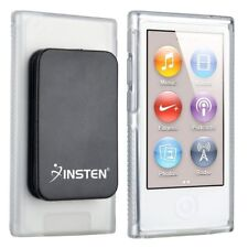 Clear TPU Rubber Soft Skin Case Cover with Belt Clip For iPod Nano 7 7G 7th Gen