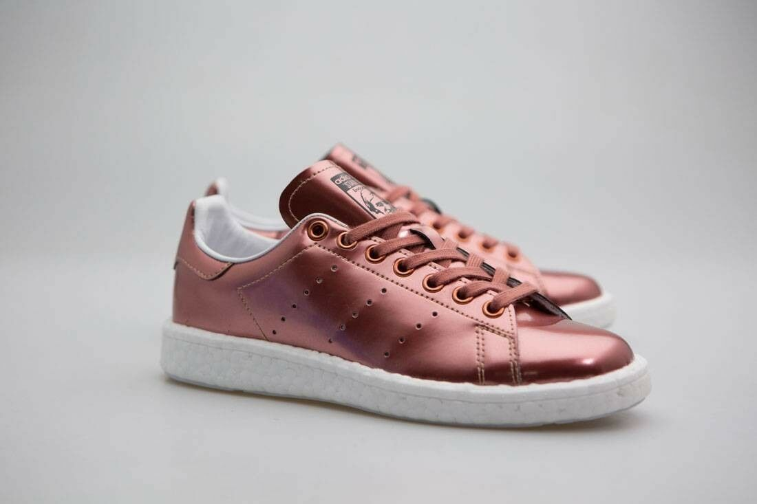 Adidas femmes  Stan Smith Boost W bronze copper metallic footwear  Blanc  BB0107