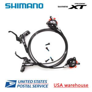 SHIMANO BR-BL-M315 Pre-bled Hydraulic Disc Brake Set Front/&Rear Black UK STOCK