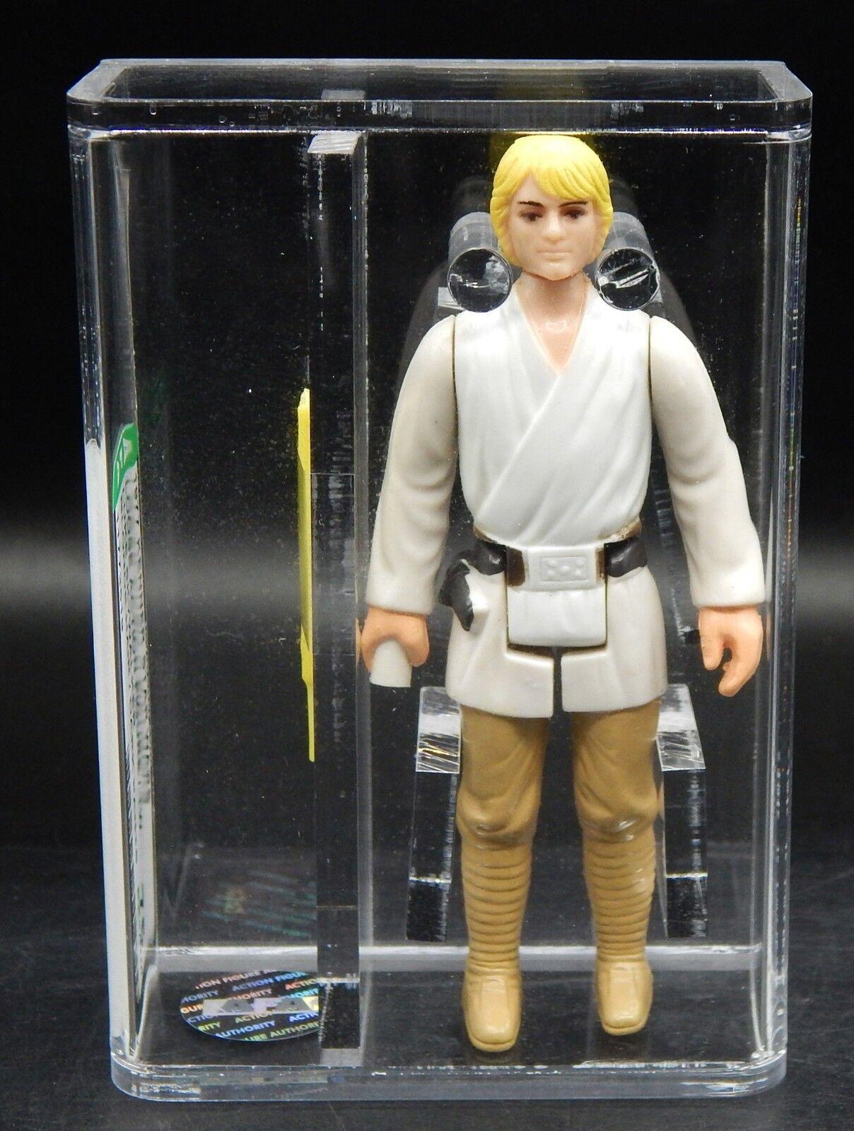 AFA 75 vintage Star Wars LUKE SKYWALKER Kenner figure 1977 first 12 dark pants