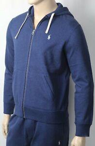 Polo Ralph Lauren Blue Hoodie Full Zip Sweatshirt NWT