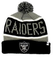 Brand Forty Seven Striped Oakland Raiders Hat Beanie Winter Nfl One Size