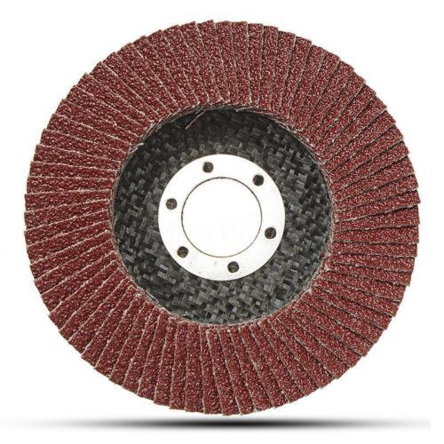 Abrasive 4.5//5/'/' Flap Sanding Discs wheels Metal Angle Grinder Sand Paper tool