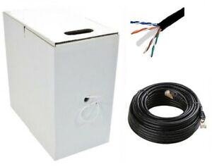 Black-305m-CAT6-Network-LAN-Cable-Gigabit-Ethernet-Indoor-Outdoor-Thick-Jacket