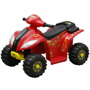 vidaXL Moto Elettrica per Bambini Rossa Quad Elettrico Giocattolo Cavalcabile