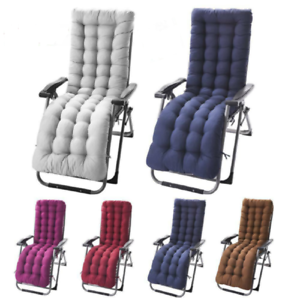 Details about Soft Cotton Seat Pad Replacement Cushion Pad Garden Sun Lounger Recliner Chair