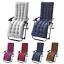 Indexbild 1 - Replacement Soft Cotton Seat Pad Cushion Pad Garden Sun Lounger Recliner Chair