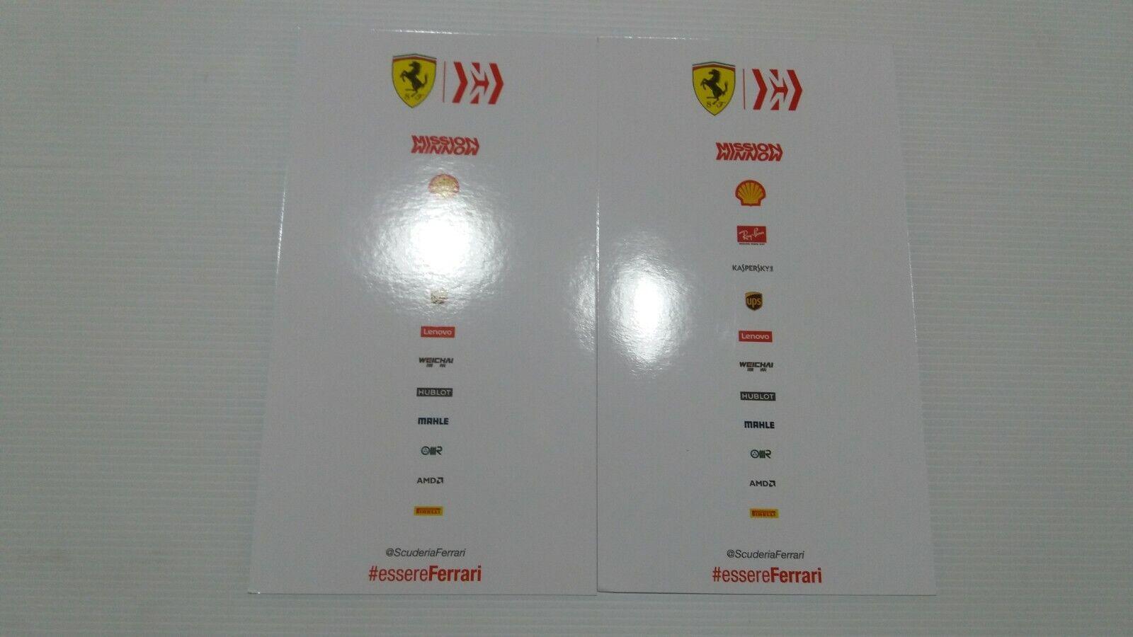 Card scuderia ferrari sf 90  vettel vettel vettel leclerc. 2019 43efe2