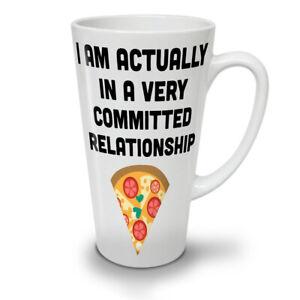 Relationship With Pizza NEW White Tea Coffee Latte Mug 12 17 oz | Wellcoda