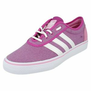 size 40 be218 3fc02 Image is loading Ladies-Adidas-pink-textile-lace-up-trainer-G65548-