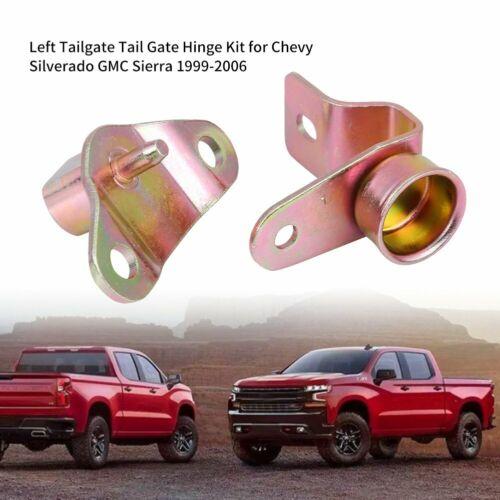2Pcs Left Tailgate Tail Gate Hinge Kit for Chevy Silverado GMC Sierra 1999-2006