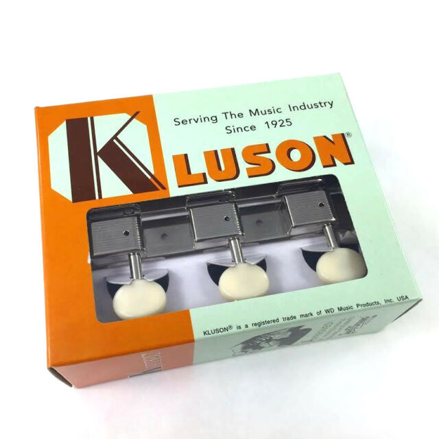 The Kluson guitar tuners on a strip