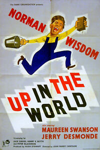 UP-IN-THE-WORLD-1956-Norman-Wisdom-UK-1-SHEET-POSTER