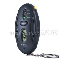 Alcohol Breath Tester LED Torch Key Ring Indicates Driver Blood Reading Gadget