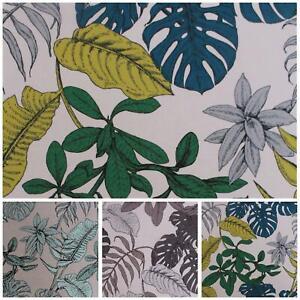 Myanmor Tropicale esotico foglie in Grassetto Stampa Floreale Velour Velluto Tappezzeria Stoffa