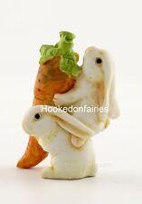 Rabbits Bunnies Carrying Carrot Dollhouse Miniature Fairy Garden Bunny T 4335