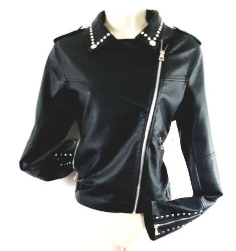 Chic Nwt Bebe L Jacket Size Jet 170 Msrp Fabuleux Super Studded Black a0aq6WT
