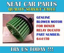 HEATER BLOWER MOTOR FOR PEUGEOT BOXER CITROEN RELAY FIAT DUCATO 6441T0 GENUINE