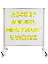 5cm Yellow Sticky Self adhesive Vinyl Sticker Alphabet Set 26 letters