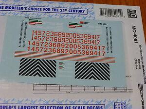 HO 1:87 Microscale 87-1467 Nacionales De Mexico NdeM Trailer//Flat Car Decals