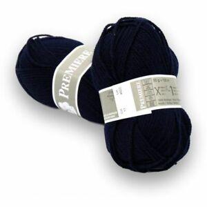 fabriquée en France Pelote de laine à tricoter Acrylique Première 11 Marine