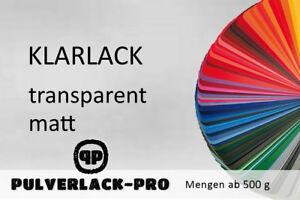 KLARLACK-PULVERLACK-Polyester-matt-500g-Klarpulver-Beschichtungspulver