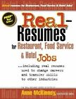 Real-Resumes for Restaurant, Food Service & Hotel Jobs by Anne McKinney (Paperback / softback, 2012)