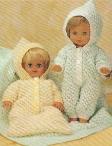 Baby-Doll-Sleeping-Bag-All-in-One-nd-Blanket-Knitting-Pattern-Prem-size-DK-1076