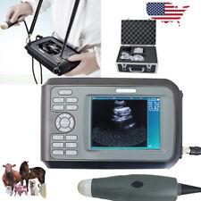 Portable Veterinary Vet Ultrasound Scanner Machine For Animal Cow 35mhz Probe