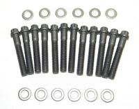 Small Block Ford Black Oxide 12 Point Intake Manifold Bolts 351w Grade 8