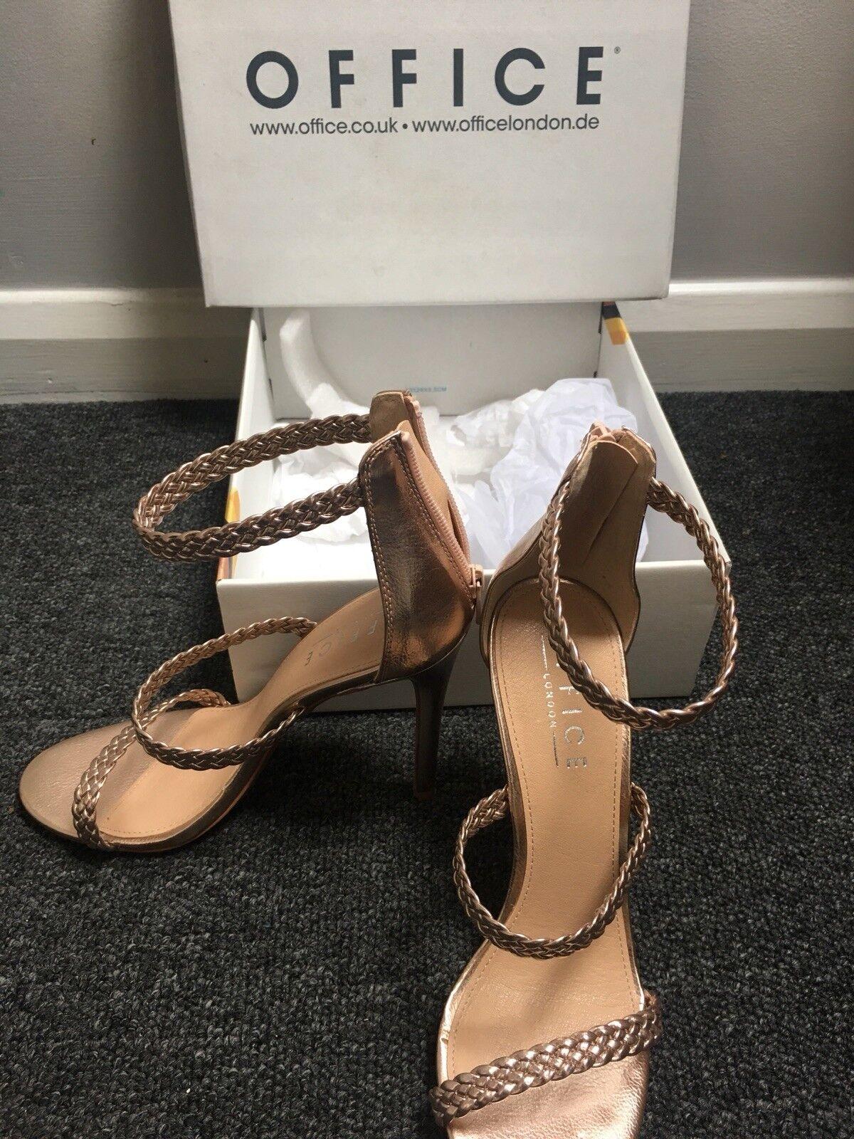 Office Rosa Gold Gold Gold schuhe Sandals Heels schuhe Größe 7 41f59a