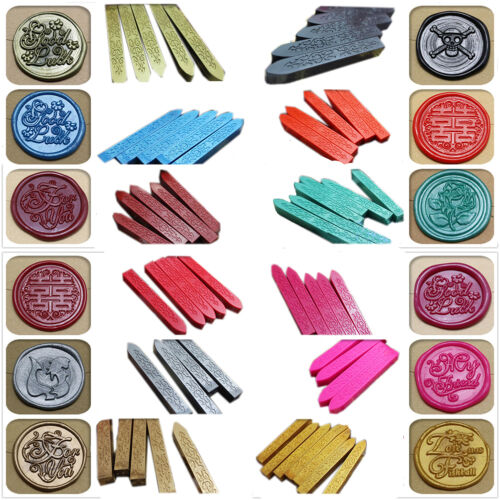 P/&T  23 colors Vintage Retro Sealing Wax Seal Dedicated Beeswax  for Stamps Cl