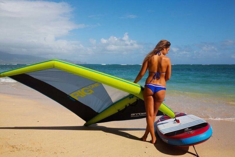 IRig UND Fanatic Viper Air SUP auf Windsurf Board Neu Stand Up Segel