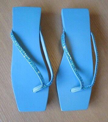 Damas Azul Sandalias Nuevo Tamaño Pequeño Aprox 3-5