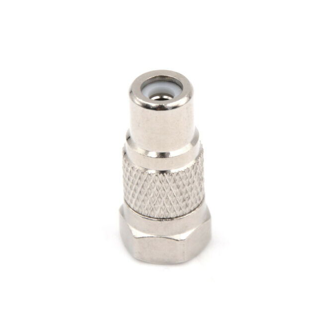 F Male Plug to RCA Female Jack Coaxial Coax Adapter AV ConnectorC  HQ