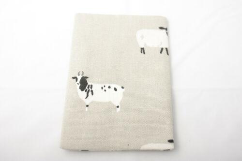 Sophie Allport ~ SHEEP ~ cute tissue//hankie holder 100/% cotton ~ grey