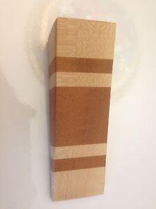 Wooden Door Stop Wedge Made Of Maple And Mahogany Felt Bottom | eBay