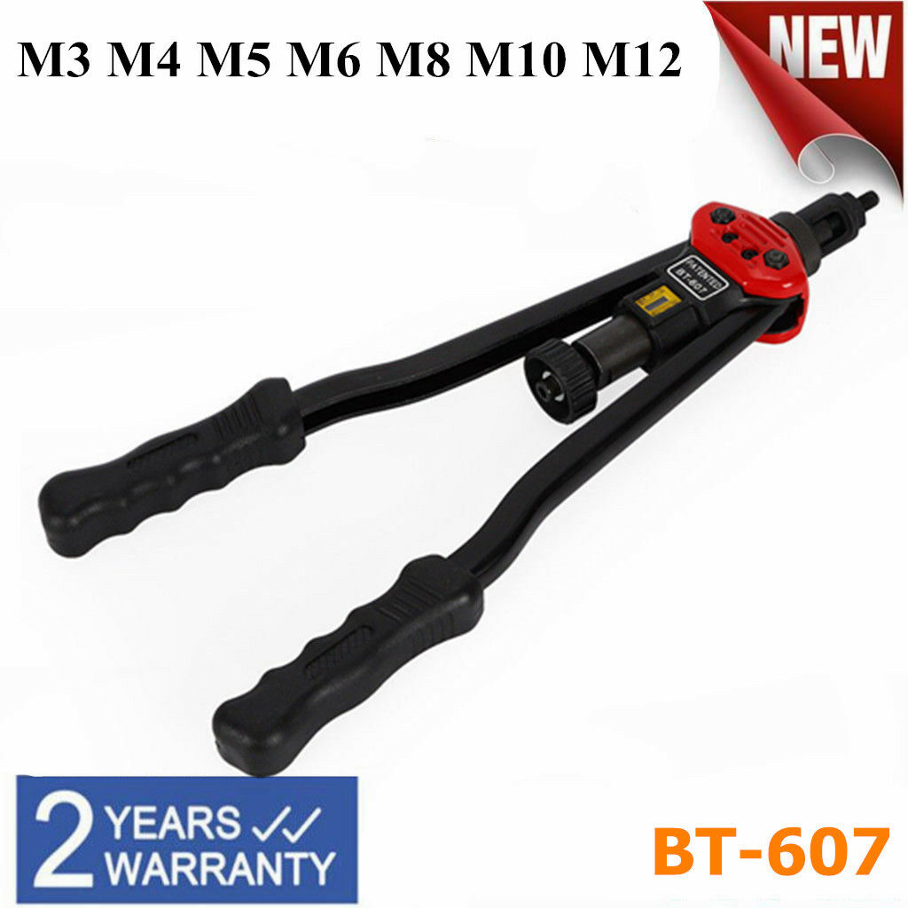 BT-607 Thread Rivet Gun Hand Riveter Pliers Tool Rivet Gun for Nut M3-M12