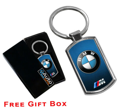 BMW KEYRING  METAL CHROME KEY RING FOB GiFT