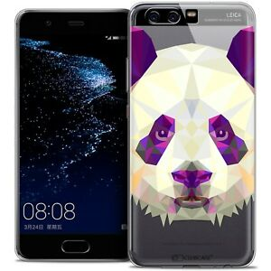 Details about Cover Case For Huawei P10 Polygon Animal Flexible End Panda
