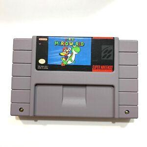 Super Mario World SNES Super Nintendo Original Game Tested Working & Authentic!