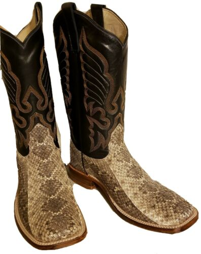 MENS NEW 100/% REAL WESTERN RATTLESNAKE SKIN COWBOY BOOTS ALL SIZES AVAILABLE