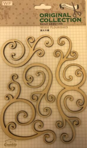 EnoGreeting Original Collection Wood Flourishes