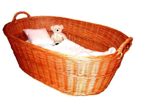 Beistellbett Babybett Babykorb Anstellbett Babykörbchen Wiege Weide unbehandelt